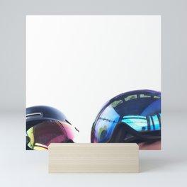 Going up - Goggles reflecting gondola Mini Art Print