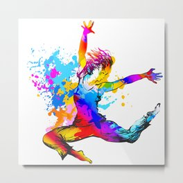 Hip hop dancer jumping Metal Print
