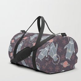 penguins and saturns Duffle Bag
