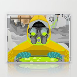 radioactive biohazard suit man on nuclear meltdown Laptop & iPad Skin