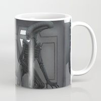 xenomorph Mugs featuring Papa Xenomorph by Arigon