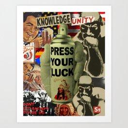 Press Your Luck '16 Art Print