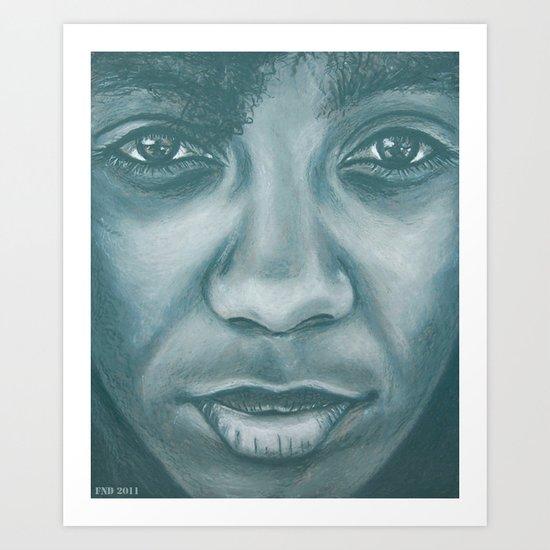 ms.think Art Print