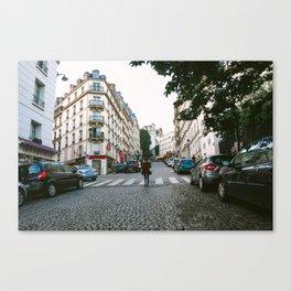 A Walk Through Montmartre Canvas Print
