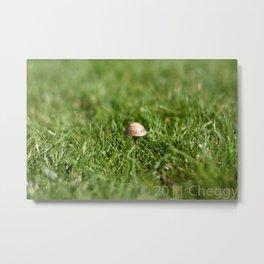 Mushroom sad Metal Print