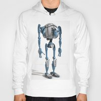 robot Hoodies featuring Robot by Steve Thorpe
