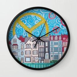 peace on dupont circle Wall Clock