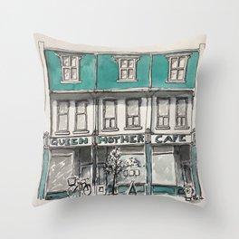 Queen Mother Cafe Toronto Throw Pillow