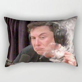 Elon Musk Smoking Weed Rectangular Pillow