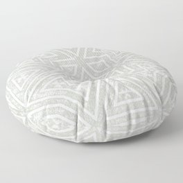 Minimalistic Style Distressed Grey And White Geometric Print Floor Pillow