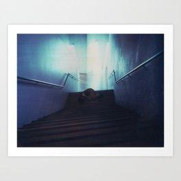 Federation Stairs Polaroid Art Print