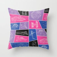 ships Throw Pillows featuring Ships by Dorothy Leigh