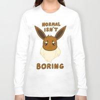 eevee Long Sleeve T-shirts featuring normal eevee by deerboywonder