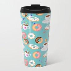 Coffee and Doughnuts Metal Travel Mug