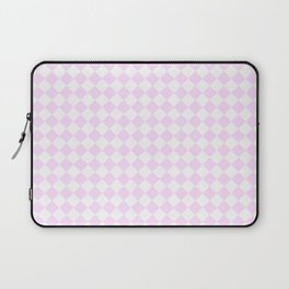 Small Diamonds - White and Pastel Violet Laptop Sleeve
