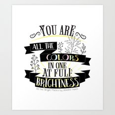 All The Bright Places by Jennifer Niven Book Quote Typography Art Print