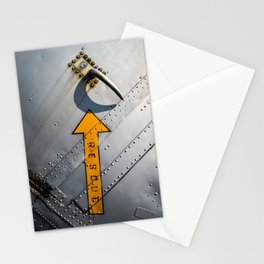 Airplane Metal Rescue Sign Stationery Cards