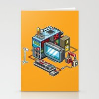 8bit Stationery Cards featuring 8bit computer by Sergey Kostik