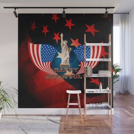 Independence Day, statue of Liberty Wall Mural
