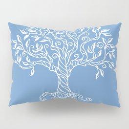 Tree of Life Blue Pillow Sham