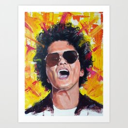 Mr. Mars (Bruno) Artwork Art Print