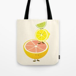 Smiling citrus fruit stack Tote Bag