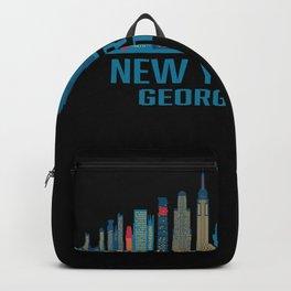 New York City Georgetown Skyline Backpack