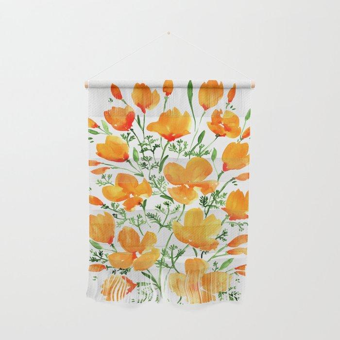 Watercolor California poppies Wall Hanging