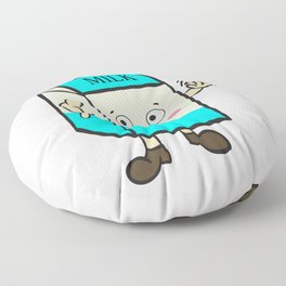 Fan of milk? Grab this hilarious tee design that will absolutely make your day! Makes a nice gift! Floor Pillow