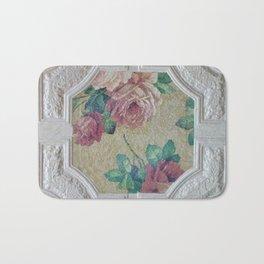 Antique Ceiling Tile * Art tile * Victorian Roses Bath Mat