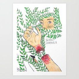 Slowly Unravels Art Print