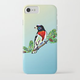 rose-breasted-grosbeak- iPhone Case