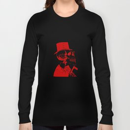 Skeleton in a Top Hat Long Sleeve T-shirt