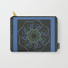 Hope Mandala with Border - Blue Black Carry-All Pouch