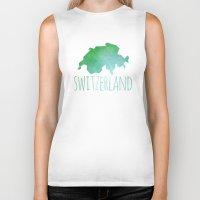 switzerland Biker Tanks featuring Switzerland by Stephanie Wittenburg