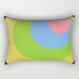Anuket - Classic Colorful Abstract Minimal Retro 70s Style Dots Design Rectangular Pillow