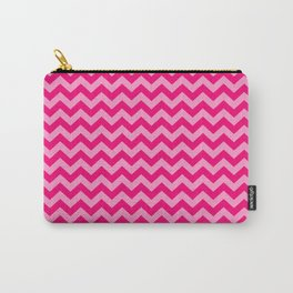 Pink Morroccan Moods Chevrons Carry-All Pouch