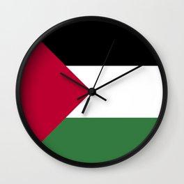 Palestine flag emblem Wall Clock