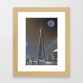 Burj Khalifa Emirates Dubai Travel Poster 4 Framed Art Print
