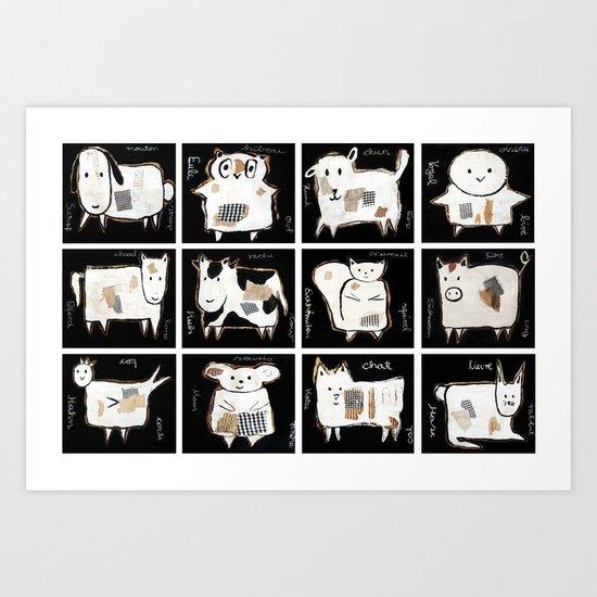 little pets Art Print