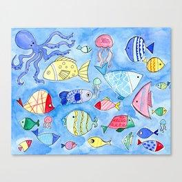 Aquarium Fish for Summer Canvas Print