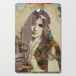 Vintage Woman Built By New York City 1 Cutting Board