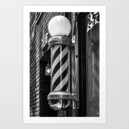Barbershop Cane Art Print