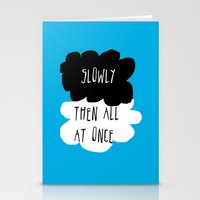 the fault in our stars Stationery Cards featuring the fault in our stars by Kathy157