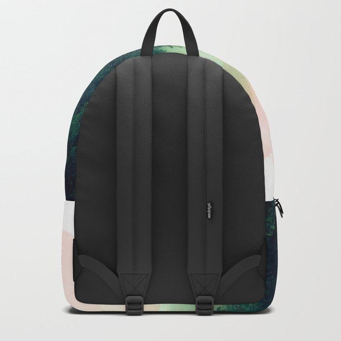 Watercolor mountain landscape Backpack