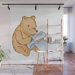 Pooh Reading Wall Mural