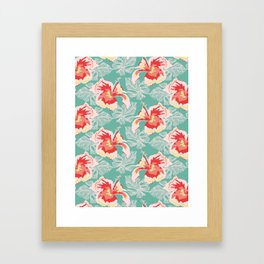 Hawaiian Flowers Framed Art Print