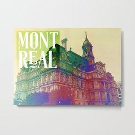 L'hôtel de ville de Montréal Metal Print