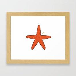 Cute Star Framed Art Print