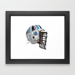 UNC Tarheels Bucket Framed Art Print